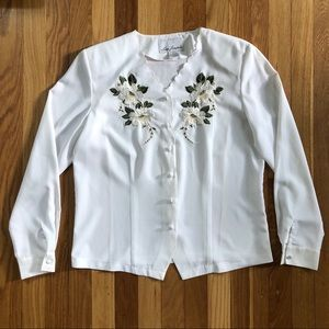 Vintage Women's Embroidered Dress Shirt
